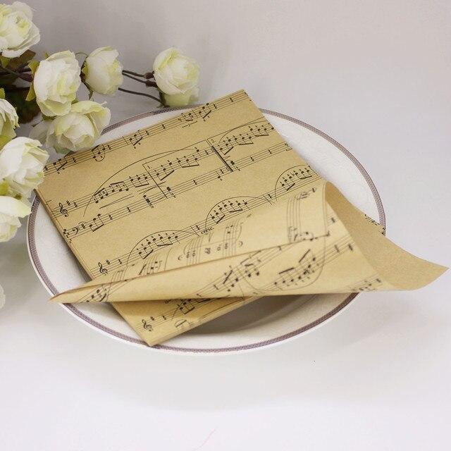 50pcsset Diy Handmade Kraft Paper Musical Note Candy Boxes Flower