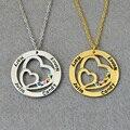 Индивидуальное Сердца Ожерелье, пользовательские Имена, 925 Серебро Персонализированные Ожерелье, камень Ожерелье, мать Ювелирные Изделия Custom Gift