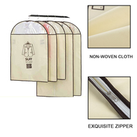 Clothes Suit Dress Garment Dustproof Hanger Storage Protector Cover Bags 5 Piece