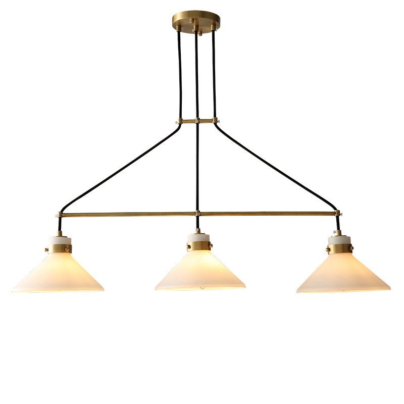 3 Light Straight Plate Gold Metal E14 Led Pendant Lights For Dining Room Up Frosted Glass Hanging Lamp Lustre Suspend Lamparas one light frosted glass antique rust hanging lantern