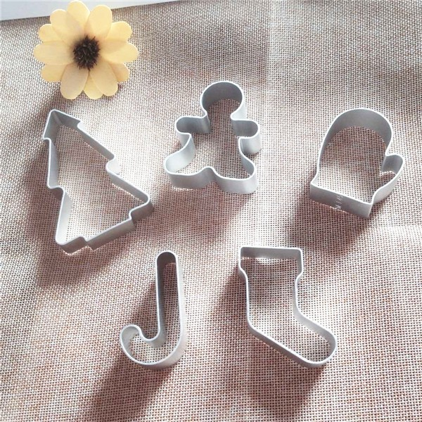 5pcslot different design christmas cookie cutter mold metal cookie cutters aluminium alloy mould in cookie tools from home garden on aliexpresscom - Metal Christmas Cookie Cutters