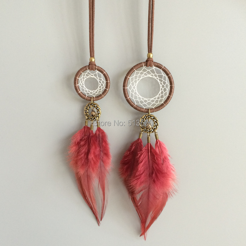 feather pendant necklace native american indian style pendant necklaces handmade vintage style free shipping