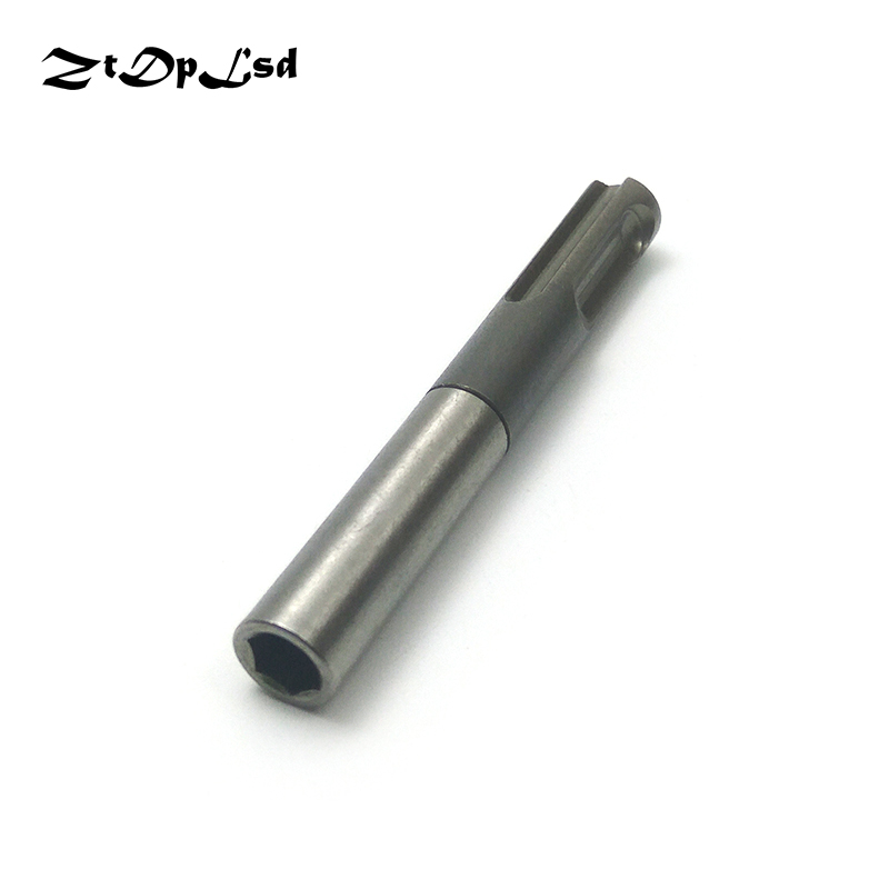 ZtDpLsd 80mm 1Pcs 1/4 6.35mm Hex Shank Screwdriver Holder Drill Bit Adaptor Converter Socket Nut Impact Driver For SDS Hammer