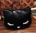 2017 new all-match cute kitty cat face cartoon bag handbag Crossbody Bag Ali fashion personality