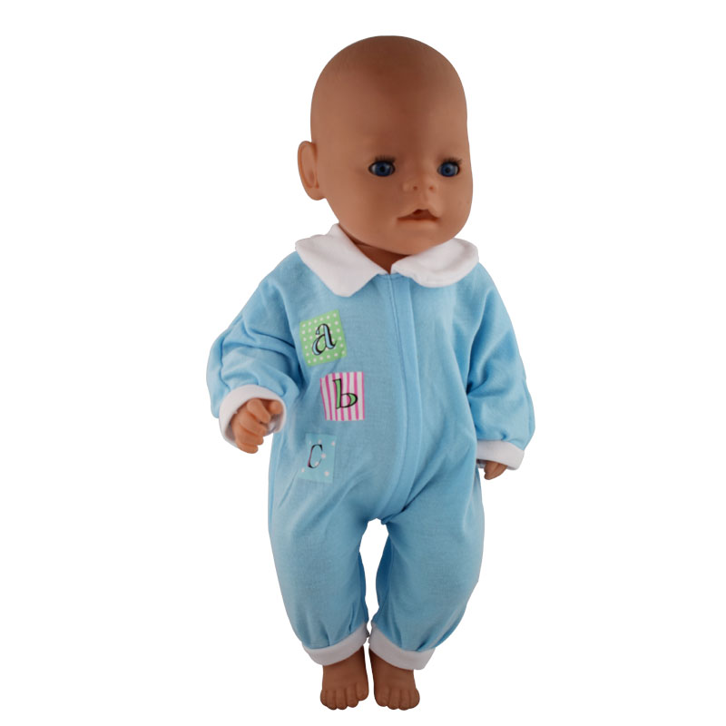 Blue jumpsuits Doll Clothes Wear fit 43cm Baby Born zapf, Children best Birthday Gift zapf baby born sweater hat jeans dress wool cap fit 18 inch american girl doll winter clothes sets children best birthday gift