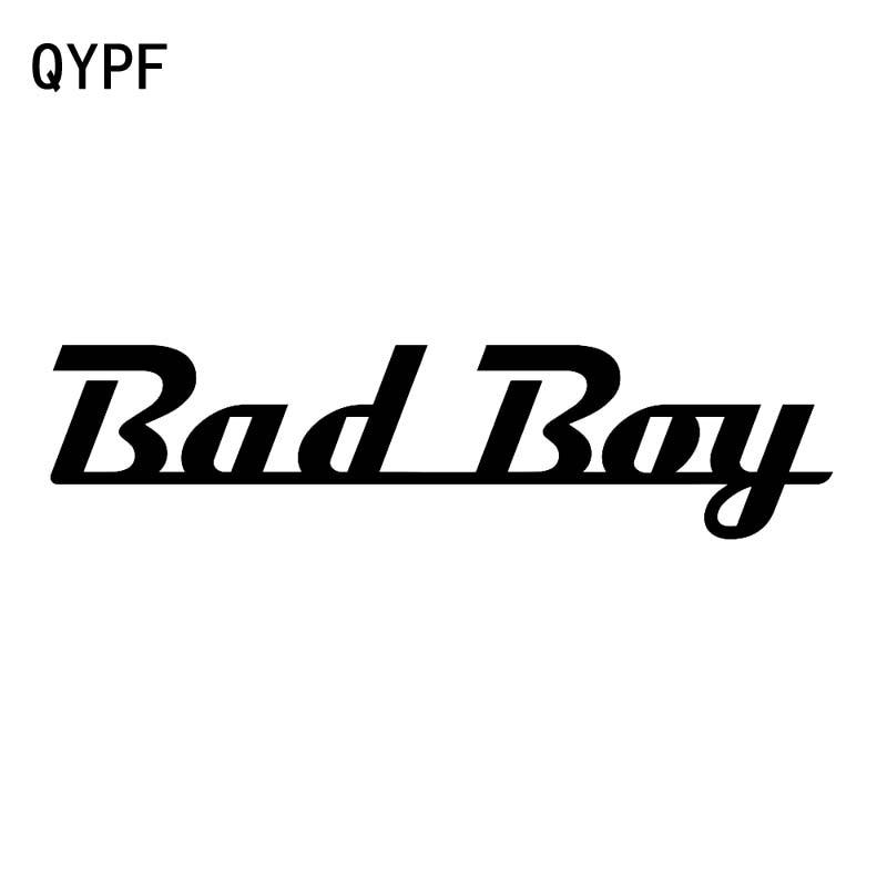 QYPF 17.3CM*4.3CM Funny English Alphabet Bad Boy Vinyl Car Sticker Waterproof Decal Black Silver C15-1929