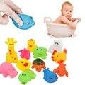 12 Unids/set Animales Juguetes de Juego Lindo de Goma Suave Flotador Sqeeze Sonido de Lavado Baño De Juego Juego De Natación Juguetes de Baño Para Bebé niños