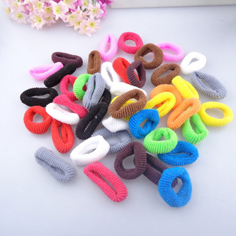 100/200/400Pcs Girls Hair Accessories Elastic Rubber Hair Band Hair Holders Headdress Hair Tie Gum Random Color Headdress dhl or ems 120pcs two color crossed milk silk headband knotted hair band lady wash headdress td 31 hair accessories