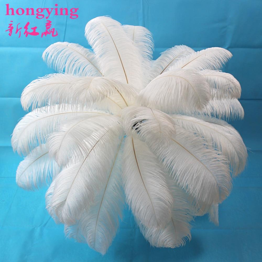 Nuevas 10 PCS hermosas plumas de avestruz blancas naturales al por - Artes, artesanía y costura - foto 1