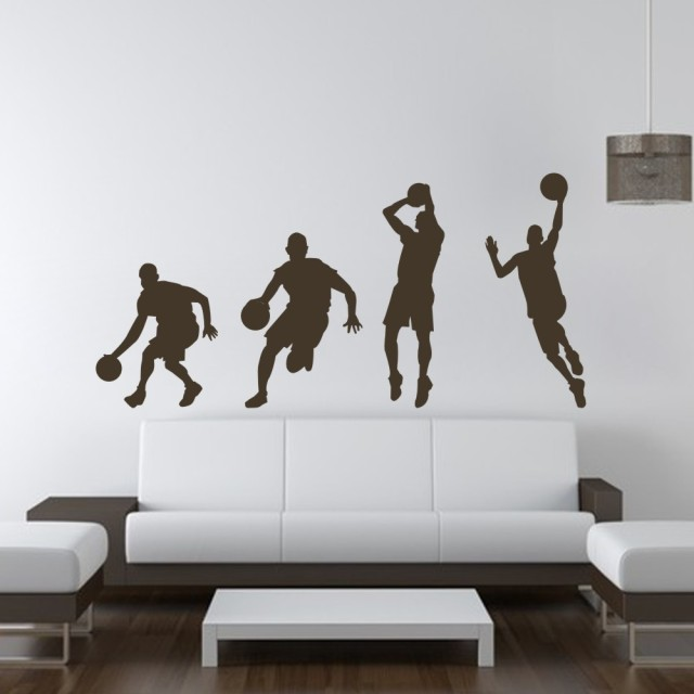 Basketball Player Dribble Dunk Sequence Michael Jordan Sticker  Graphics Wall Decal Wall Sticker Boy Bedroom