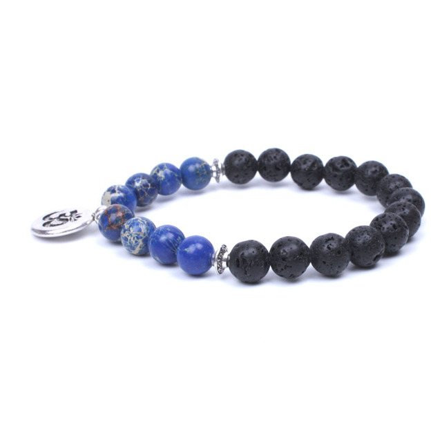 Bracelet de Protection Bouddhiste bleu