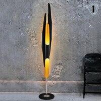 Modern Creative standing LED floor light living room/bedroom/study Nordic art designer golden black aluminum tube floor lamps