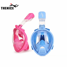 THENICE XS kids Anti-Fog Full Face Safety Mask Swimming Diving Snorkeling Full-Dry Free breathing Goggles diving For Child