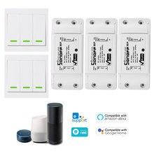 3 PCS SONOFF RFWireless 433 MHz RF Wi-fi Interruptor Inteligente Para Alexa/Google Casa com Função de Temporização para Android /IOS APP