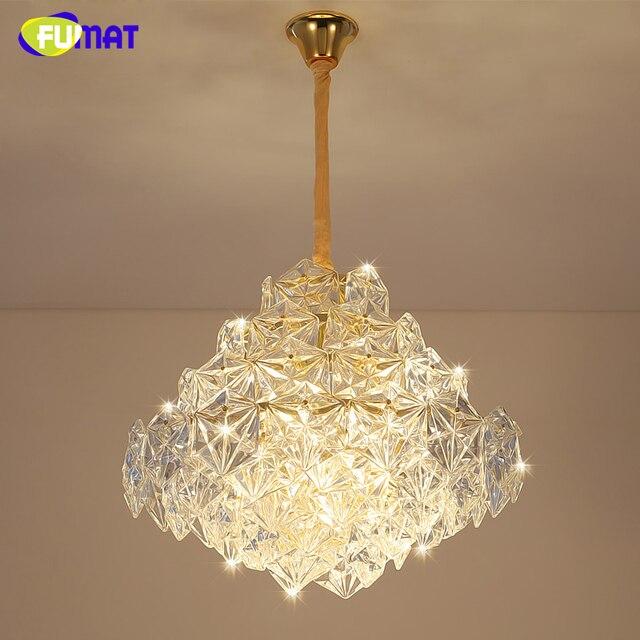 Fumat Post Modern K9 Crystal Chandelier Luxury Living Room Bed Fashion Brief Lightings Creative