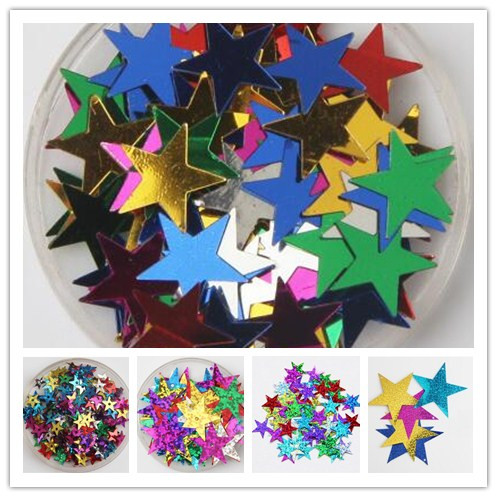 20-85MM Star Sequins Cup Loose Paillettes Wedding Crafts Kids DIY Accessories