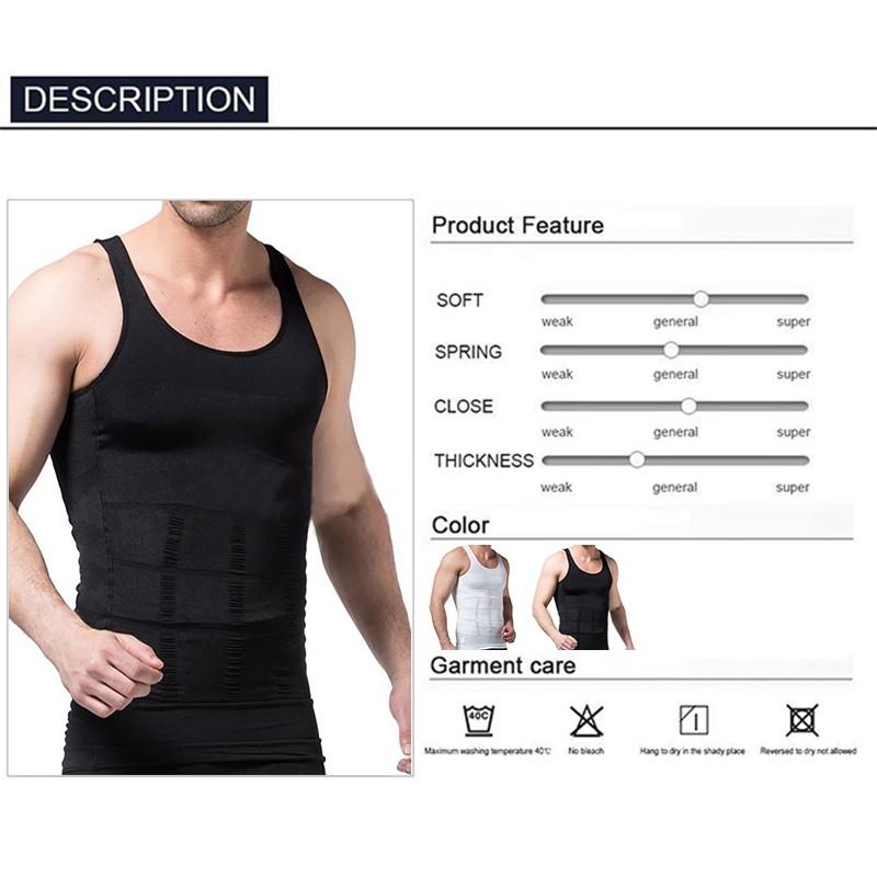 X Ventilation Comfort Men Body Shaper Slimming Vest Chest And Abdomen Tight Waist Breathable Underwear Black White Plus Size 2