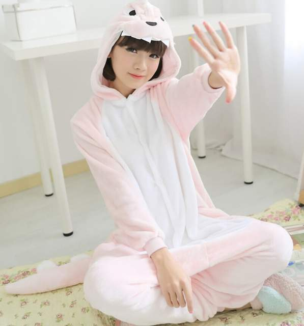 e8e32e415 Online Shop Kigurumi Pink Dinosaur Onesie Adult Children Unisex ...