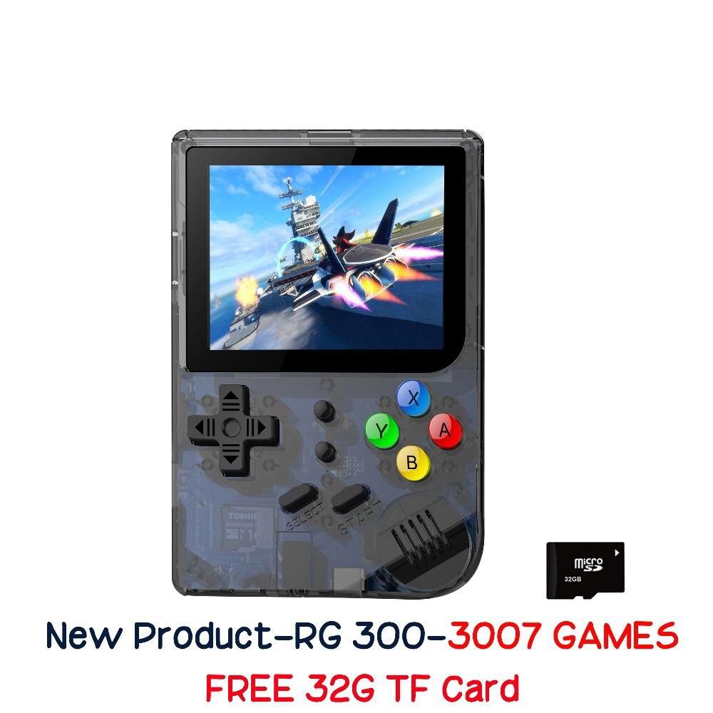 Nouveau 3 pouces jeux vidéo Portable rétro FC console rétro jeu jeux de poche Console lecteur RG 300 16G + 32G 3000 jeux Tony system