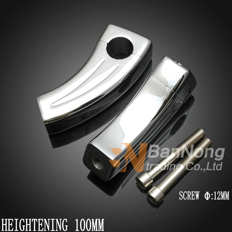 25mm cruise Motorcycle Heightening Fixed seat Clamps Handlebar Riser Mount For Harley 883 1200 Magna Steed