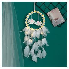 LED Lamp Dream Catcher Lighting Nordic LED Decoration Home Kids Room Handmade Wind Chimes Dreamcatcher Craft Gift Wall Hanging