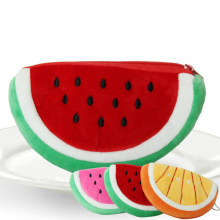 Womens Fashion Watermelon Coin Bag Girls Fruit Wallet Purse Key Zipper Bag Cosmetic Purse Bag 600PCS/LOT