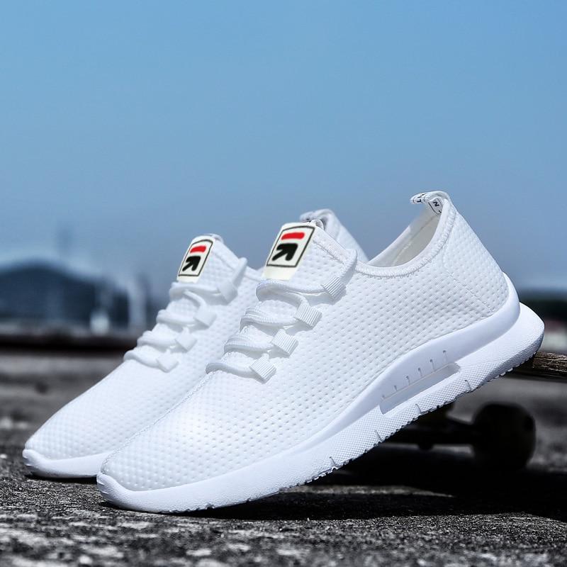 Pure Color Light Casual Shoes Mesh Cloth Men's Shoes Breathable Walking Jogging Shoes Large Size Men's Shoes 46 (3)
