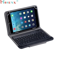 Top Quality Hot Sale Slim Aluminum Wireless Bluetooth Keyboard For IOS Android PC Leather Case JUN