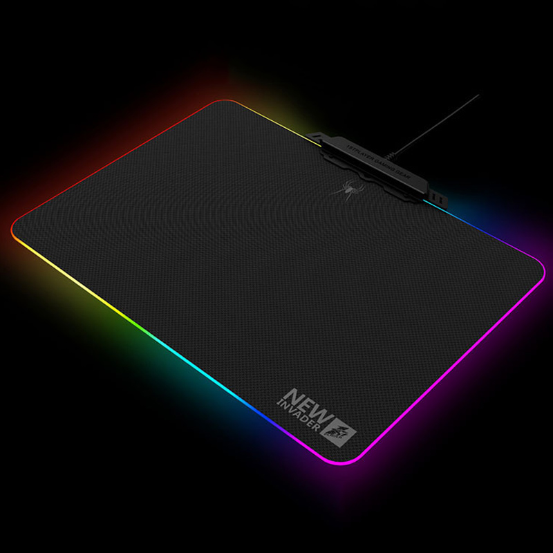 1STPLAYER HY-MP01 Gaming MousePad Gamer With 10 Models RGB Light USB Wired Metal LED RGB Backlight Mouse Pad With Touch Control black background cs ak 47 mouse pad computer mousepad go large gaming mats to gamer anime rectangular