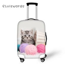 ELVISWORDS Cute Cat printed Protective Covers for Suitcase 3D Travel Luggage Cover Elastic Stretch to 18-30 Case New