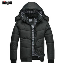 DIMUSI 2017 Jackket Men Winter Jacket Big Size M-4XL New Arrival Casual Slim Cotton With Hooded Parkas Casaco Masculino ,YA294