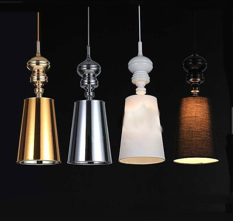 1Pc Modern Fashion pendant lights House Garden Guards light Pendant lamp Home Lighting Fixtures white/black/silver/gold FG865