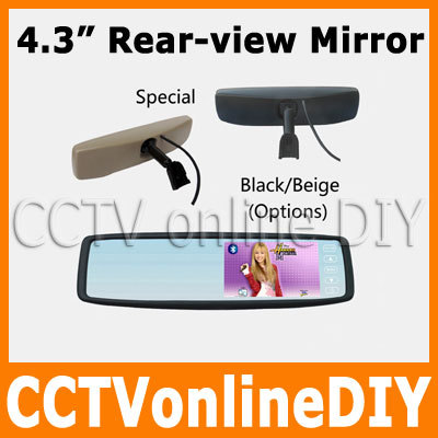 Free shipping Brand New 4.3 TFT-LCD Special Rear View Mirror Car Monitor with Touch Button Bracket brand new j2 2016 lcd free shipping j210