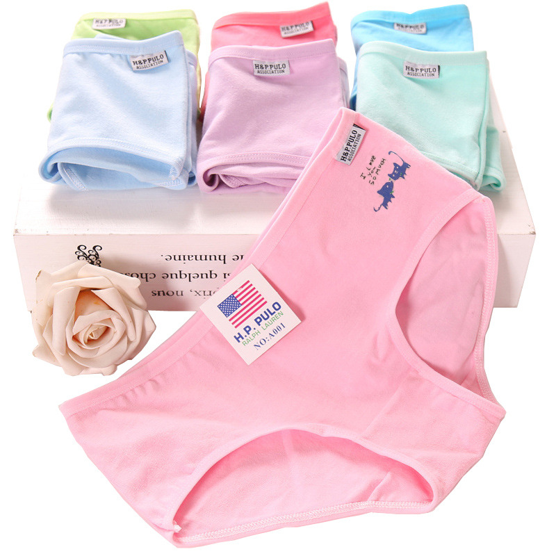1pcs Womens   Panties   Briefs Big Size M-XXXL Sexy Underwear Cotton Soft Breathable Ladies   Panty   Solid Color Gifts For Women 35