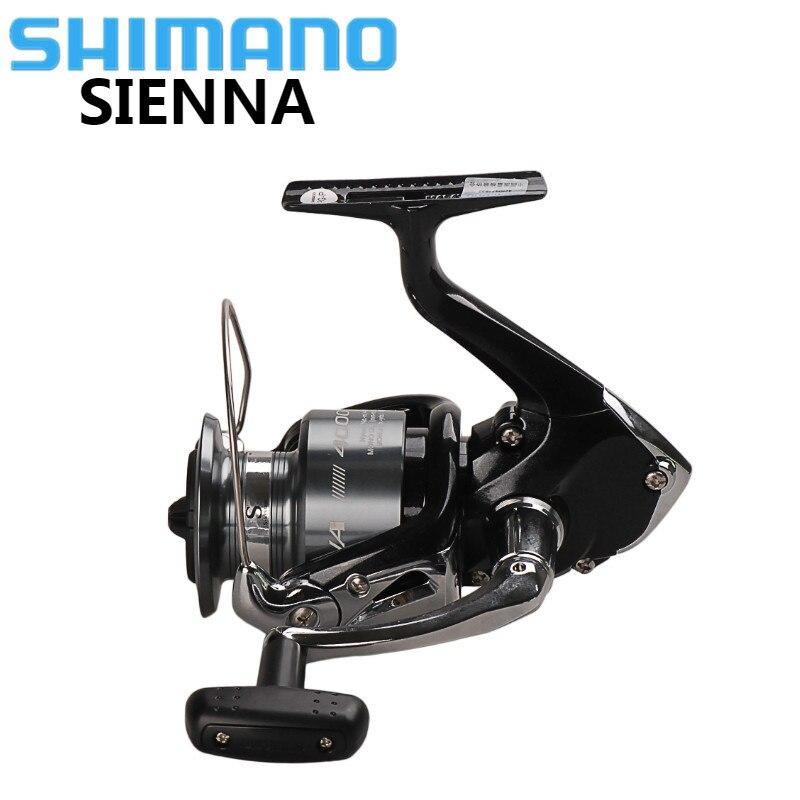 Original SHIMANO SIENNA FE 1000 2500 4000 Spinning Fishing Reel 1+1BB Saltwater Carp Fishing Reel Front Drag XGT-7 Body Wheel цена