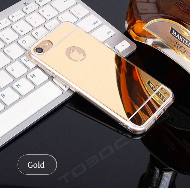 TOBOCLOO Cases Luxury Mirror TPU Capa Soft Silicone Case For iPhone 5 5s SE 6 6s 7 8 Plus X Shell Cover For iPhone 7 Plus i7 i7P