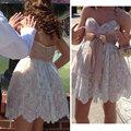 Summer style 2017 Custom made Lace Appliques Short cocktail dresses Vestidos para festa Sexy coctail dress