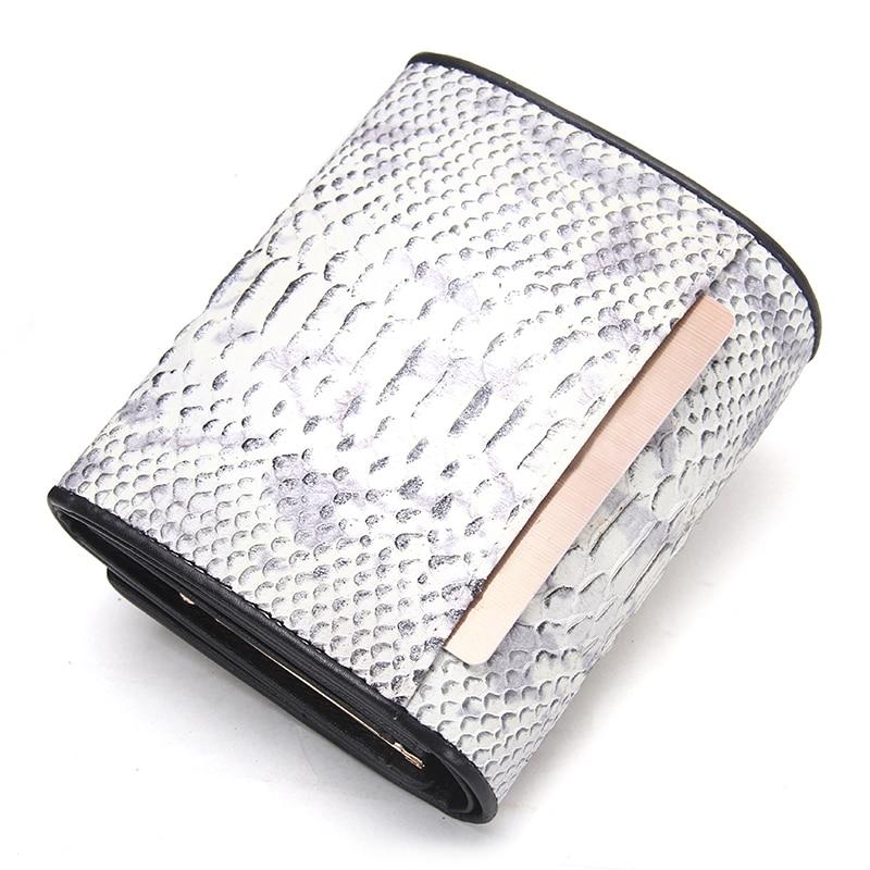 Brand Women's Plånbok Serpentine Pattern Äkta Läder Kort Kvinna - Plånböcker - Foto 3
