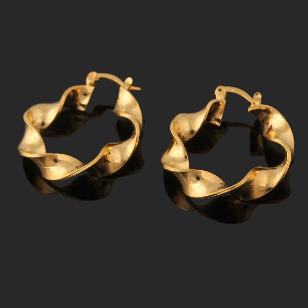 2015 sale gold color earrings big size stud earrings