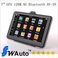 7 polegada bluetooth gps do carro navegação navegador gps AV-IN, HD 800*480,128 M, 4G, FM transmissor, Veículo gps mapas europa