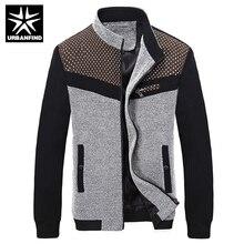 Korean Fashion Mann Herbst Jacken Plus Größe M-3XL Dot Gedruckt Patchwork Stil Stehkragen Oberbekleidung Männer Beiläufige Dünne Mäntel