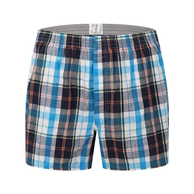Di alta Qualità degli uomini di Marca Boxer Shorts Tessuto di Cotone 100% Plaid Pettinato filati di sesso maschile Underpant Sciolto Traspirante Boxer Della Biancheria Intima degli uomini