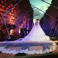 4.5 metros new primavera 2016 romântico véu com rendas apliques o Véu do casamento de Véu de Noiva Longo Véu De Noiva Com Sheer tule