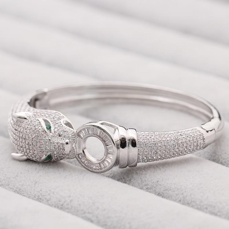 Bijoux de marque de luxe exquis bracelet léopard mode dominateur or et argent bracelet femme cadeau-in Bracelets from Bijoux et Accessoires    3