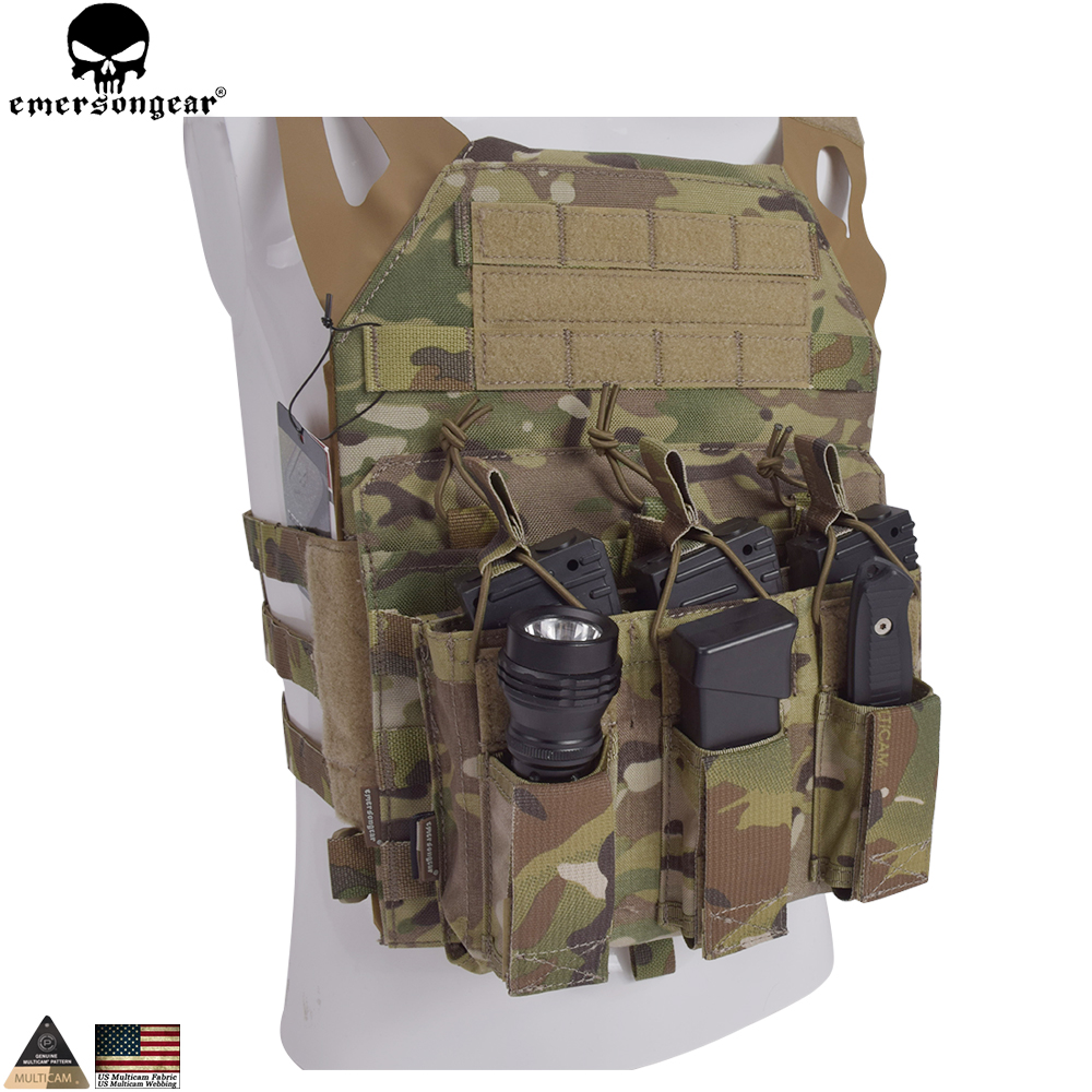 EMERSONGEAR 5.56 Triple Open Top Pistol Mag Pouch Airsoft Military Wargame Mag Pouch Tactical Molle Magazine Pouch EM6363 летняя шина kumho ecowing es01 kh27 195 60 r15 88h
