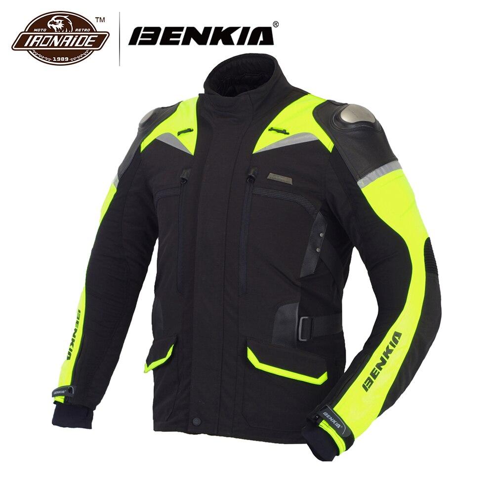 BENKIA moto croce moto rcycle Uomini Giacca Giacca Da Corsa Inverno Riflettente moto di Protezione Giacca Jaqueta moto queiro