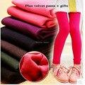 Горячие продажа осень тянуть плюшевые девушки леггинсы девушки брюки 4-10 год спортивные леггинсы для девочек леггинсы зимой