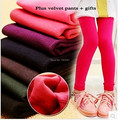 Hot sale autumn pull plush girls leggings girls pants 4-10 year sport leggings for girls winter leggings