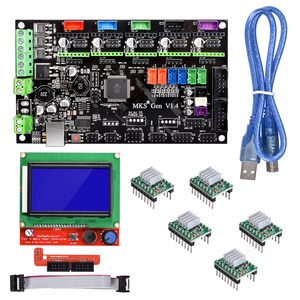 Image 1 - BIQU Bigtreetech MKS Gen V1.4 Control Board kit with 12864 LCD display TMC2130 TMC2208 A4988 DRV8825 stepper motor drive