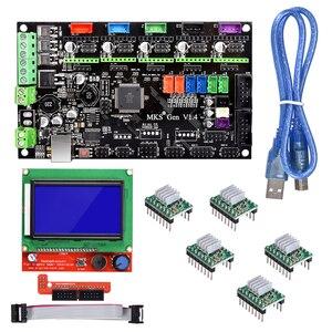 Image 1 - BIQU kit de cartes de contrôle Bigtreetech MKS Gen V1.4 avec écran LCD 12864, moteur pas à pas, TMC2130, TMC2208, A4988, DRV8825